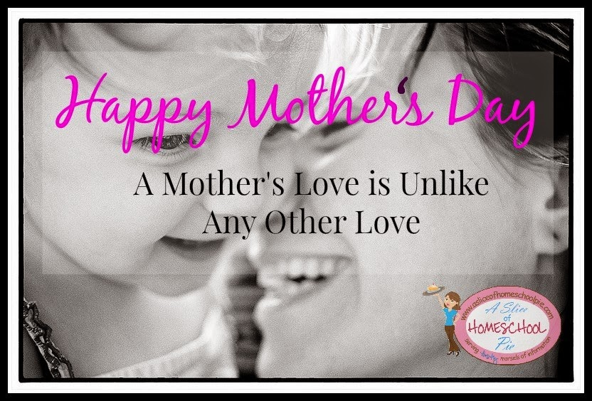 A Mother's Love is Unlike Any Other Love by ASliceOfHomeschoolPie.com