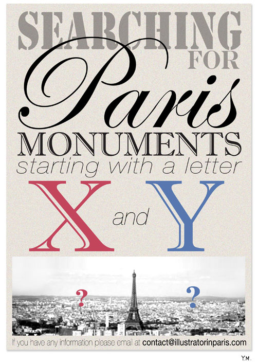 Searching for Paris Monuments by Yukié Matsushita