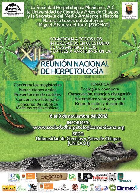 Invitación XII Reunión Nacional de Herpetología Logo