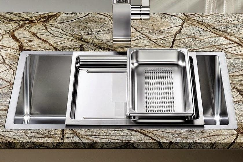 Fregaderos con accesorios cada vez m s funcionales - Dimensiones fregadero ...