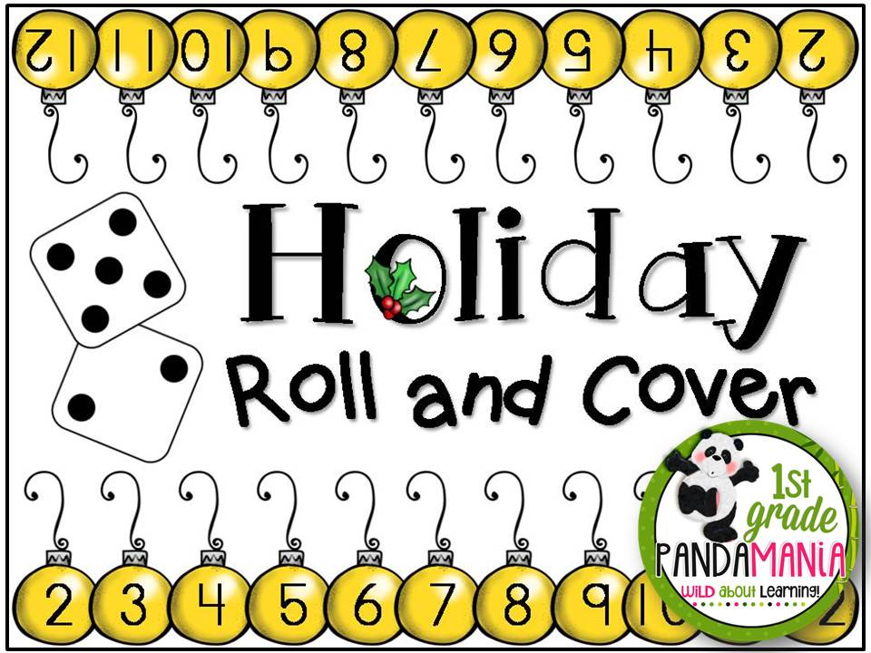 1st Grade Pandamania FREEBIE Christmas Roll and Cover Game – Sample Christmas Game