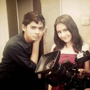 Foto Prilly Latuconsina bersama aliando syarief