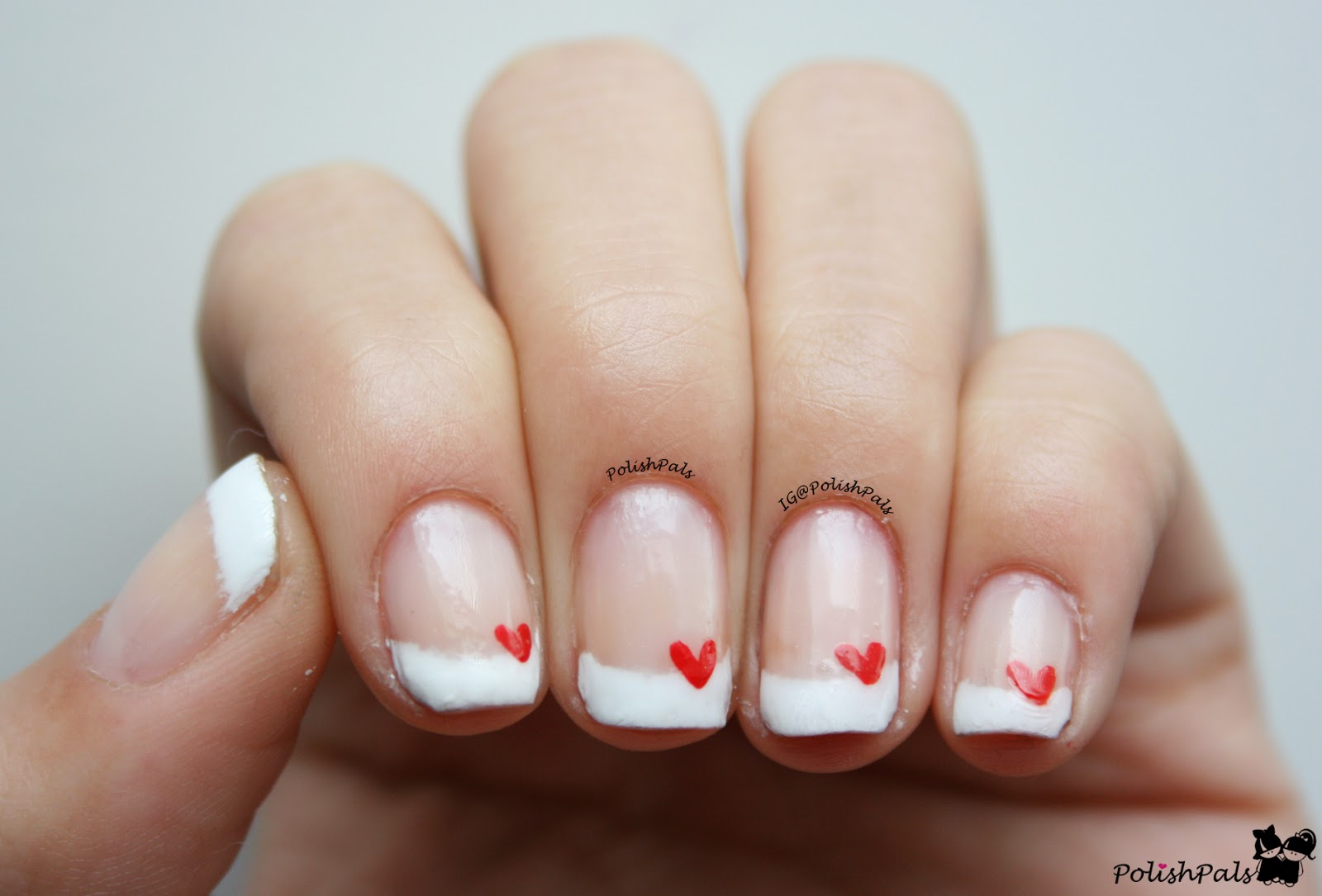Polish Pals: French Tips + Hearts