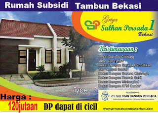Rumah Subsidi Bekasi Konsep Cluster Harga 120jutaan Tambun Bekasi