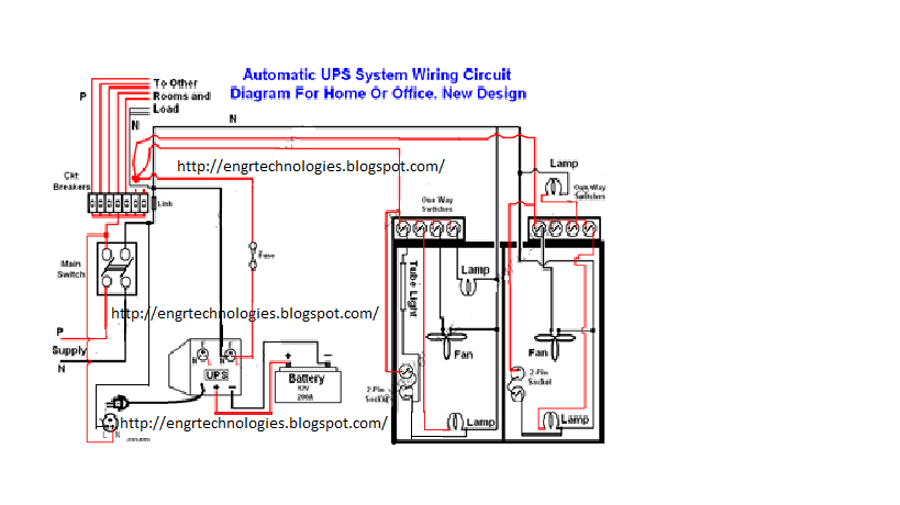 Home Wiring Diagram For Ups : Automatic ups system wiring electrical electronic
