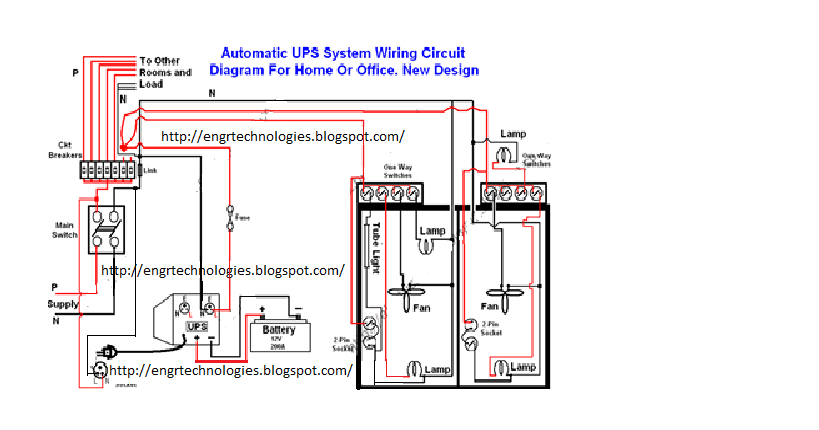 automatic ups system wiring | electrical & electronic ... home office wiring diagram
