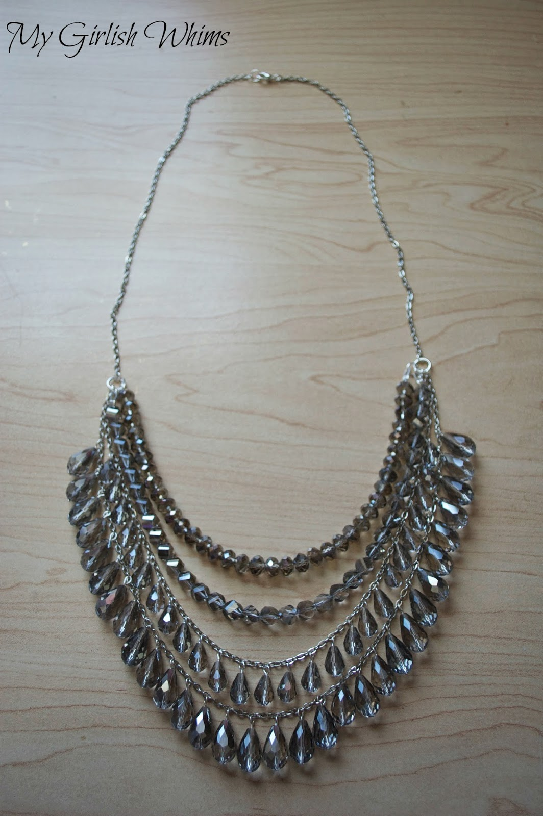 DIY Silver Sparkle Necklace - My Girlish Whims
