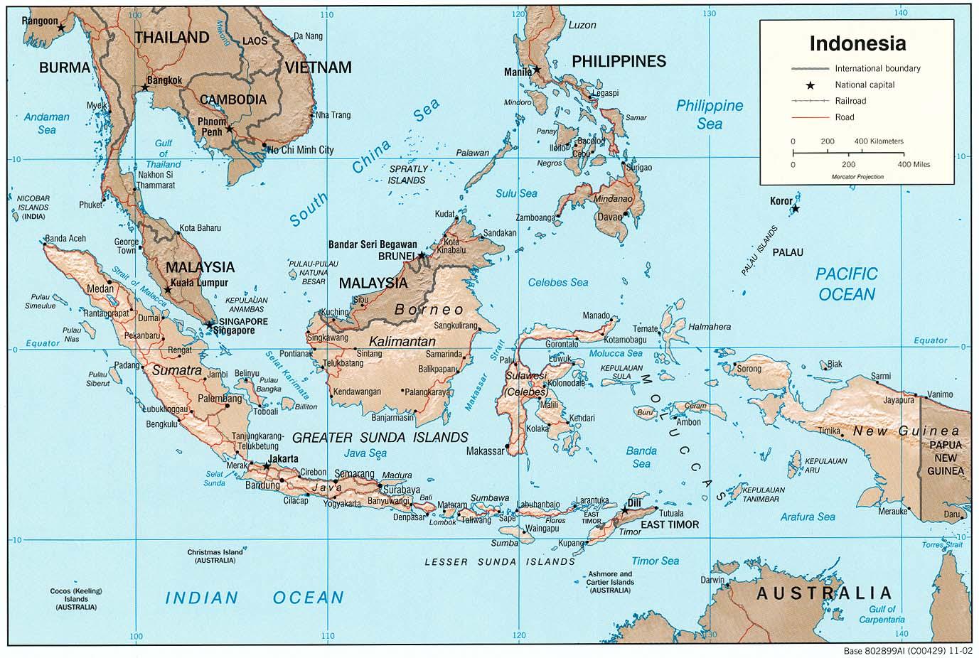 Barisan Mountains Map