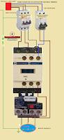 como conectar un contactor trifasico a un rele termico