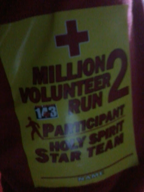 Joined The Red Cross Million Volunteer Run