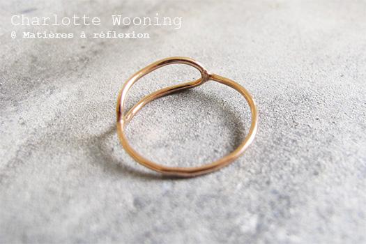 Bague ovale Charlotte Wooning en vermeil rose