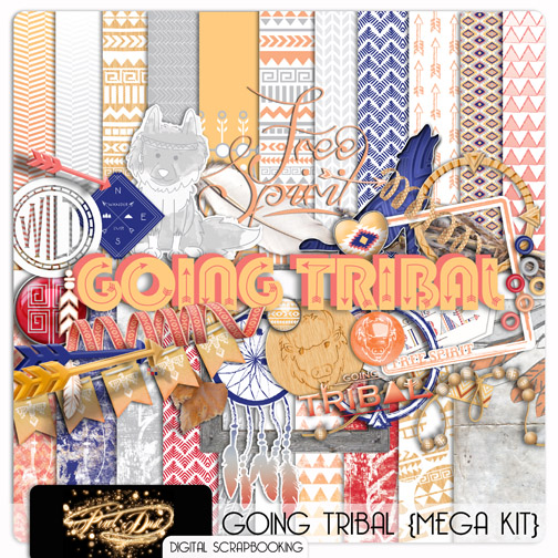 Going Tribal Free Digital Scrapbooking Kit Everyday Mom Ideas