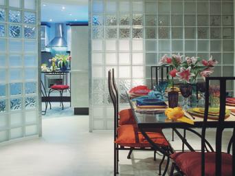 Paredes de vidrio cocinas modernass - Pared de bloques de vidrio ...