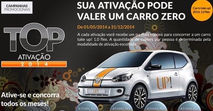 """Promoção UP! - """"Top ativação 2014""""."""