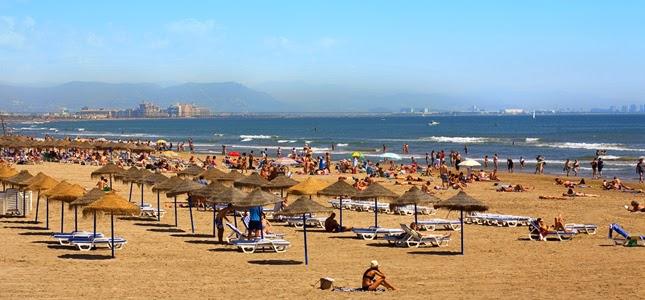 La Playa de la Malvarrosa en Valencia