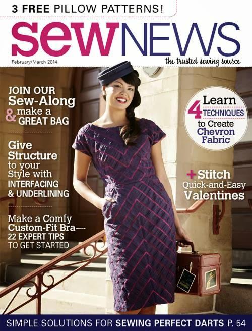 Moja haljina riblja kost na naslovnoj strani Sew News časopisa