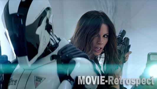 Kate Beckinsale hides from excessive lens flair in Total Recall