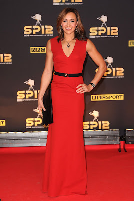 Jessica Ennis red gown from Victoria Beckham at BBC Sports Personality Of The Year
