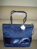 COACH SIGNATURE SEQUINS TOTE 17953
