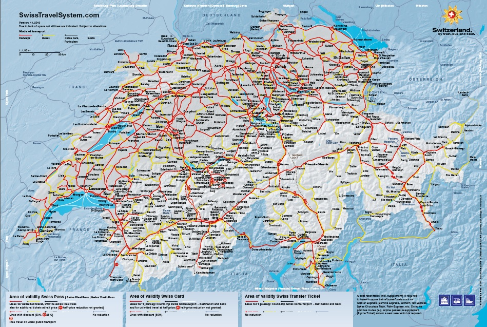 {Midas Food n Travel Blog Getting around on the Swiss Travel – Swiss Travel System Map