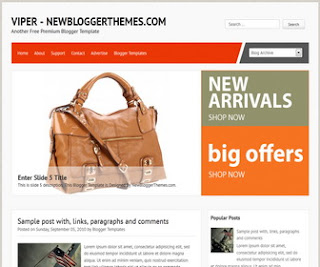 Viper-Blogger-Template