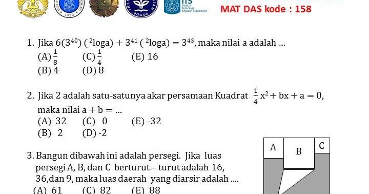 Snmptn Matdas 2011 Kode 158 1000 Soal Matematika Uan Snmptn Simak Ui