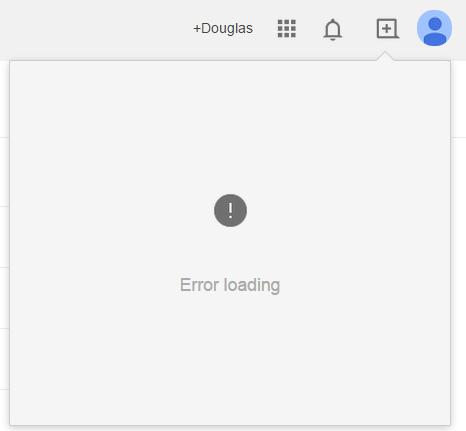 Google+ Error