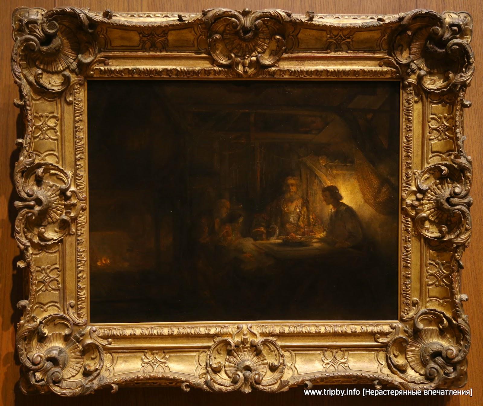Rembrandt van Rijn Dutch, 1606 - 1669 Philemon and Baucis 1658