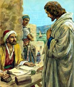 COV ZAJ NYEEM NIAJ HNUB HAUV NRUAB LIS PIAM  2014-15 - Page 2 Jesus+calls+Matthew+the+Publican+to+follow+Him