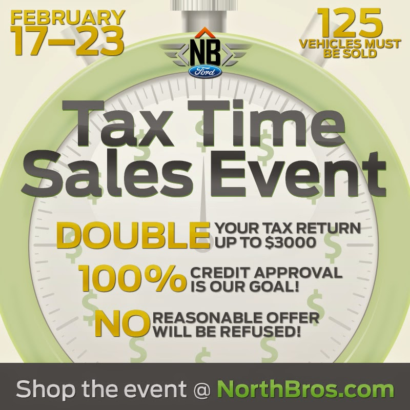 Tax Time Sales Event at North Brothers Ford