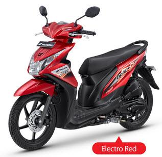 New Honda Beat Fi Red matic injeksi PGM-Fi spesifikasi mesin dan harga