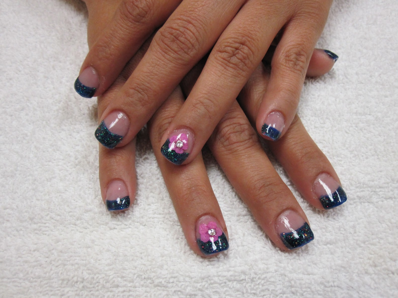 Nail art las vegas embedded flower nails embedded flower nails prinsesfo Choice Image
