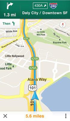 Google Maps, iPhone