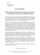 ALTERNATIVA VECIÑAL EXISE Á XUNTA QUE ACELERE A AVALIACIÓN AMBIENTAL DO PXOM DE VIGO ( ANO 2006)