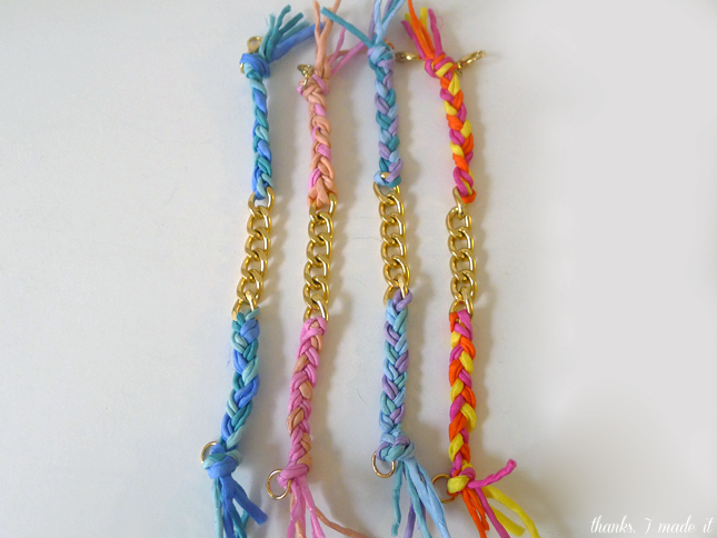 DIY Silk + Chain Friendship Bracelet