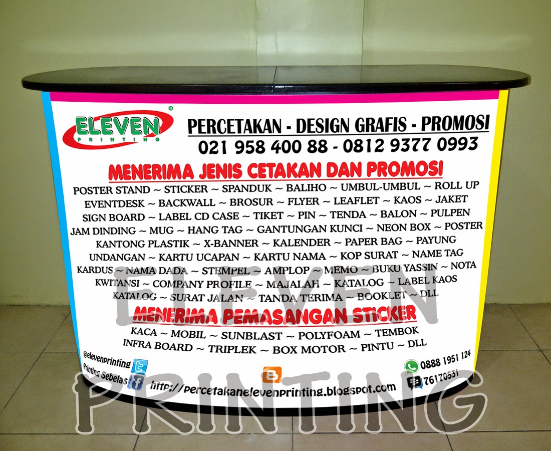 Meja Promosi Pop Up Counter