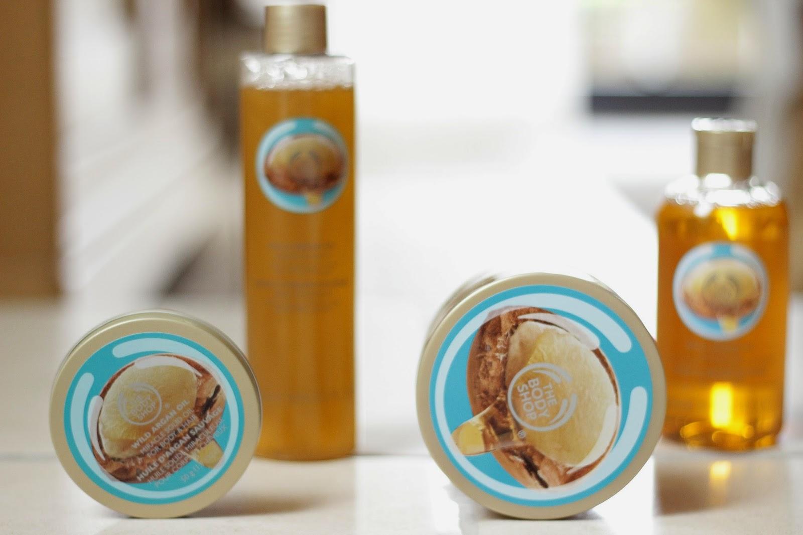 the body shop wild argan oil collection