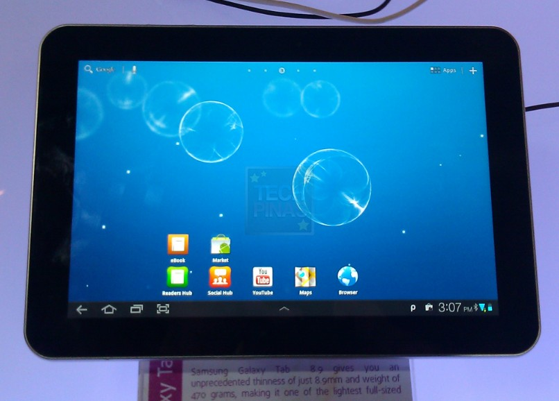 Samsung Galaxy Tab 8.9 Philippines Price, Specs, Quick Demo Video, In