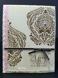 Beautifully Baroque wedding card by Ida Chan #StampinUp Vancouver