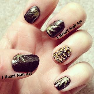 i heart nail art new years eve nails