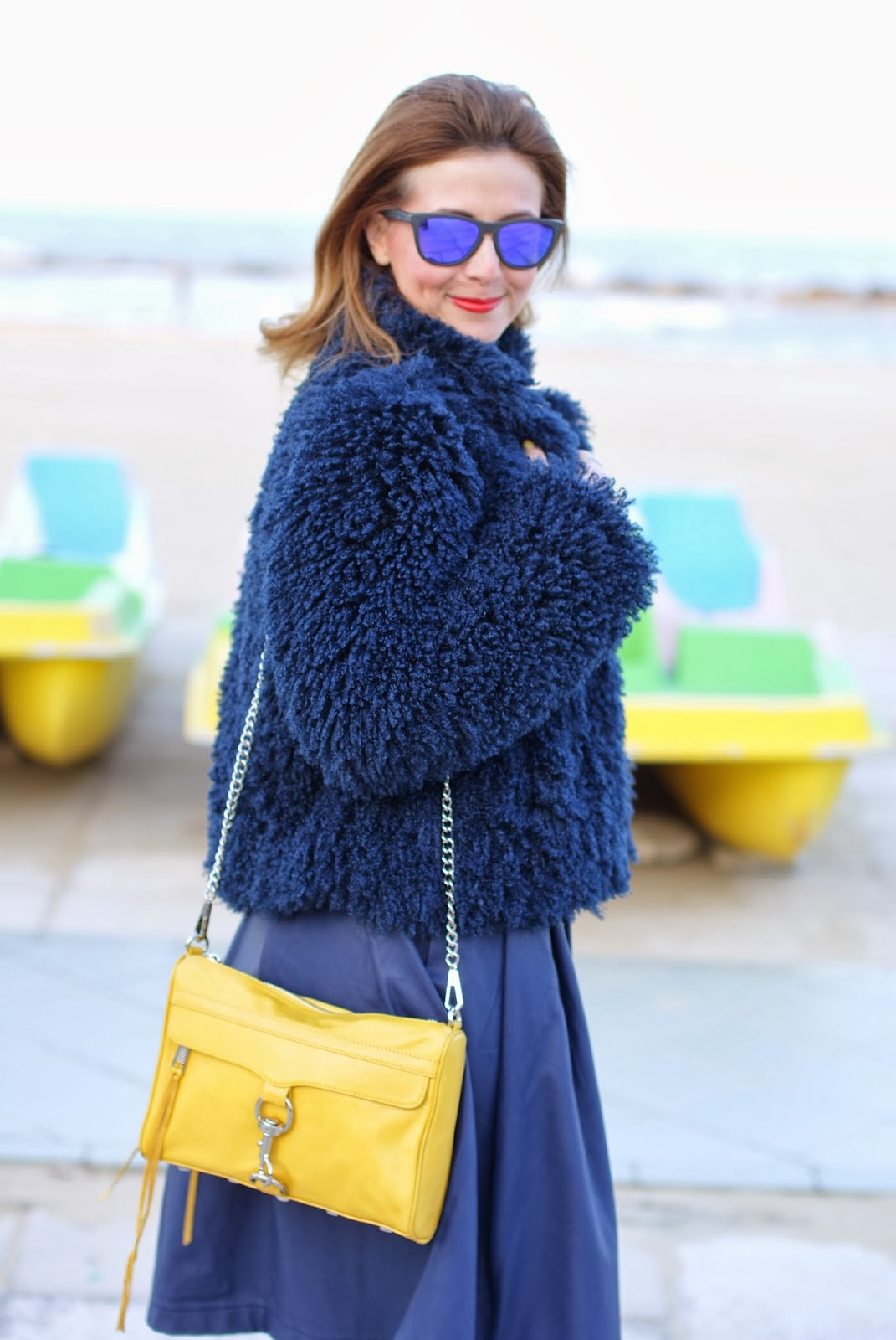 So Allure faux fur jacket, Rebecca Minkoff yellow mac clutch, Fashion and Cookies, fashion blogger