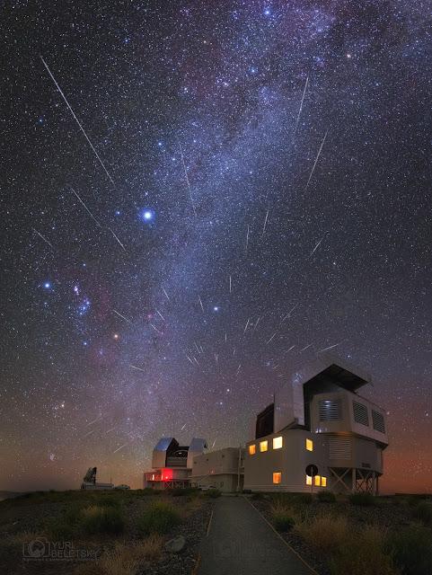 Geminid từ Phương nam. Tác giả : Yuri Beletsky (Carnegie Las Campanas Observatory, TWAN).