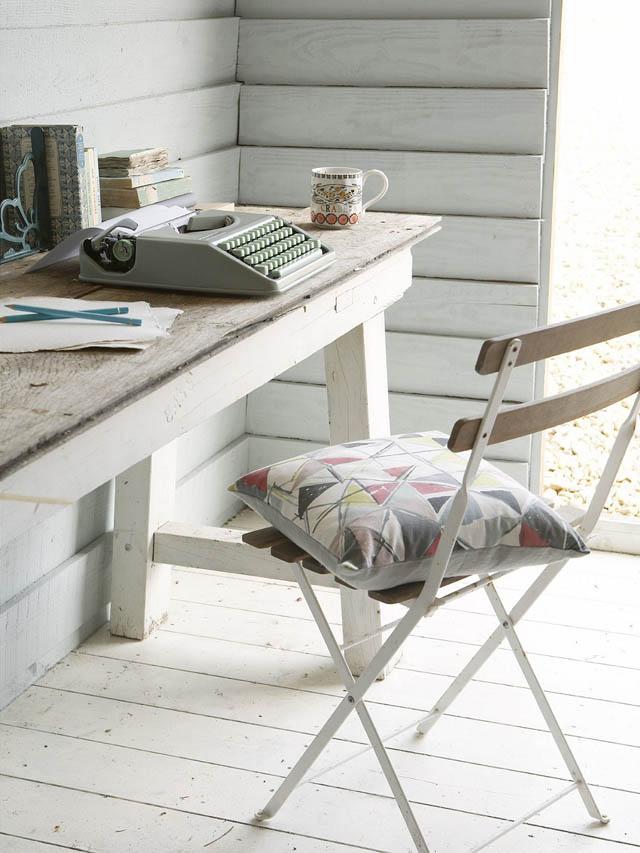 decoracion  interior en un refugio de playa-espacio de trabajo