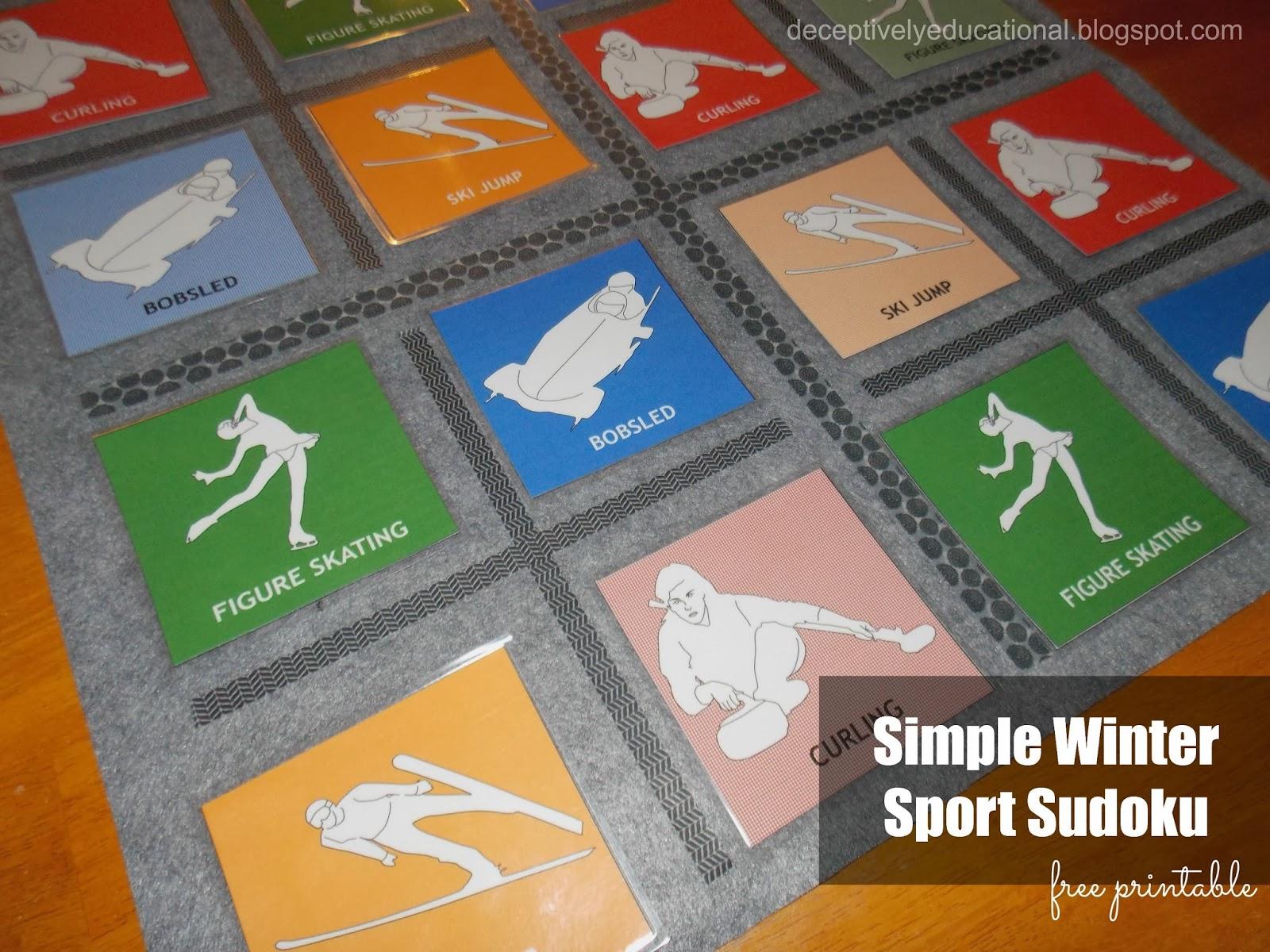 Winter Olympics Having To Relearn All >> Relentlessly Fun Deceptively Educational Simple Winter Sport Sudoku
