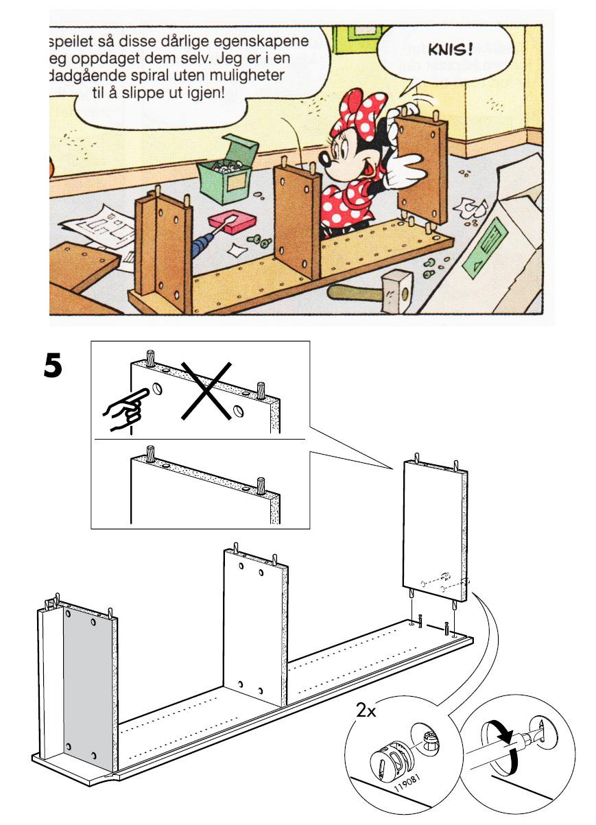 ikea billy bookshelf instructions