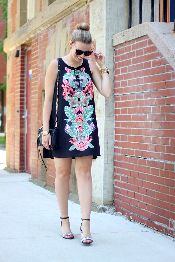Gentle Fawn Paradise Palm Print Dress