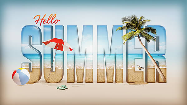 Create a Summer Inspired 3D Text Effect in Photoshop