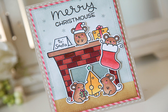Merry Christmouse, A Simon Says Stamp, Lawn Fawn Exclusive Stamp Set