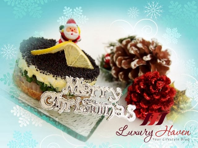 have fun making christmas party caviar pie appetizer