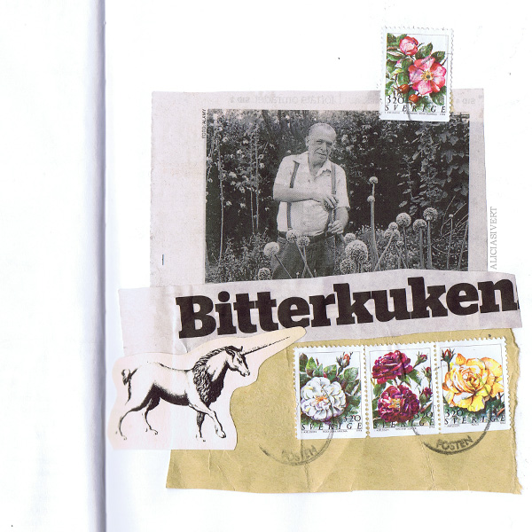 aliciasivert, alicia sivertsson, collage, kollage, charles bukowski, bitterkuken, unicorn